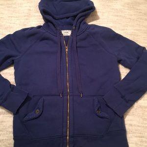 J. Crew Sherpa Fleece Hoodie 100% Cotton Size M
